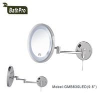 Round Shape 9.5 inch LED Lighted Wall Mount Makeup Mirror