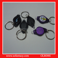 cheapest uv led mini keychain light for promotional