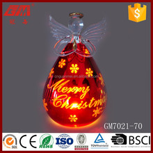 ISO9001 top quality small glass wing angel figurines