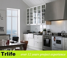 Trlife EM-03 ghana modern Melamine/HPL fiber kitchen cabinet with drawer knobs