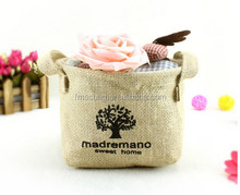 Promotional High Quality Fashion Mini Jute Burlap Tote Bags Wholesale