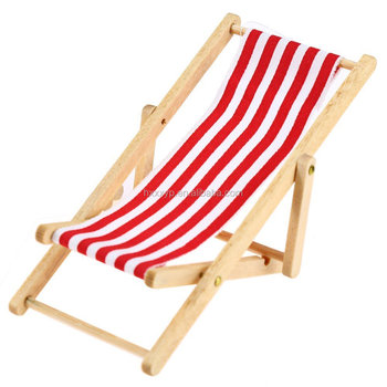 Foldable Wooden doll toy Beach Chair, Chaise Longue Toys