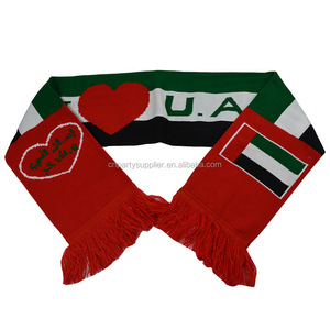 UAE National Holidays Day Flag Football Fan Knitted Scarf