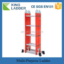 aluminum multipurpose ladder, sand blasting aluminum portable office ladder