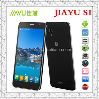 100% original Jiayu S1	Android 4.1 Qualcomm Snapdragon 600 5.0 IPS	1920x1080	13MP	2.0MP	1.7GHz	Quad Core	32G	2G