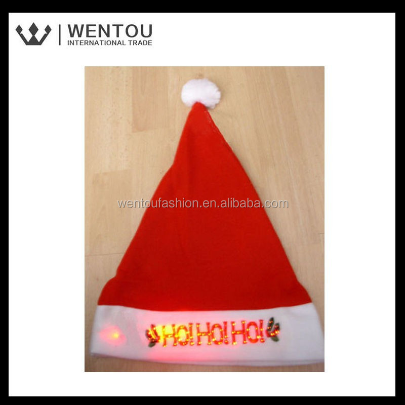 New Arrival Christmas Blinking Santa Hats With Light