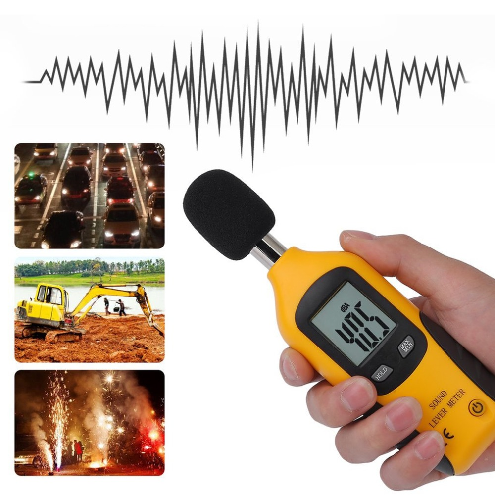 Digital Sound Level Meter Noise Volume Measuring Instrument Decibel Monitoring Tester 30 130dB-in Sound Level Meters