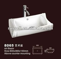 Table top mounting sanitary ware porcelain bathroom sink 8065