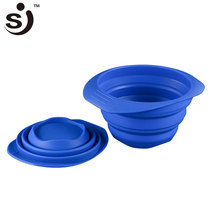 FDA Certification No Smell Silicone Collapsible Pet Dog Feeding Bowl