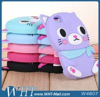Brand New 3D Cat Silicon Back Cover Case for iPhone 5S,for iPhone 5S Funny Case