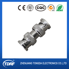 Straight male to male BNC adapter/adaptor to change the conector type