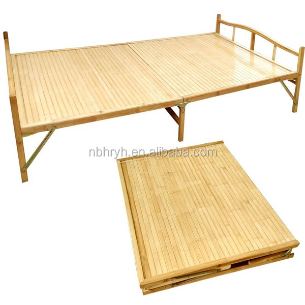 Cheap Bamboo folding <strong>bed</strong> for wholesale