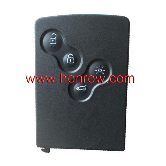 For Renault 4 button remote key blank card