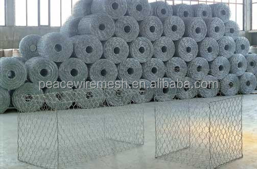 60x80 hole galvanized gabion and pvc coated gabion baskets