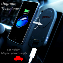 2017 New External Smart 6800mah Backup Power Bank Pack Battery charger case with built in vehicle Magnetic patch