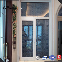 Sliding Aluminum Double Glass Window With Grill Design Window