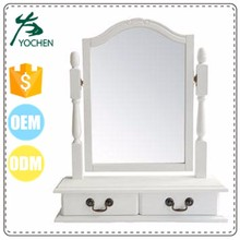 cheap white retailer dressing table makeup table mirror for women or girl gift