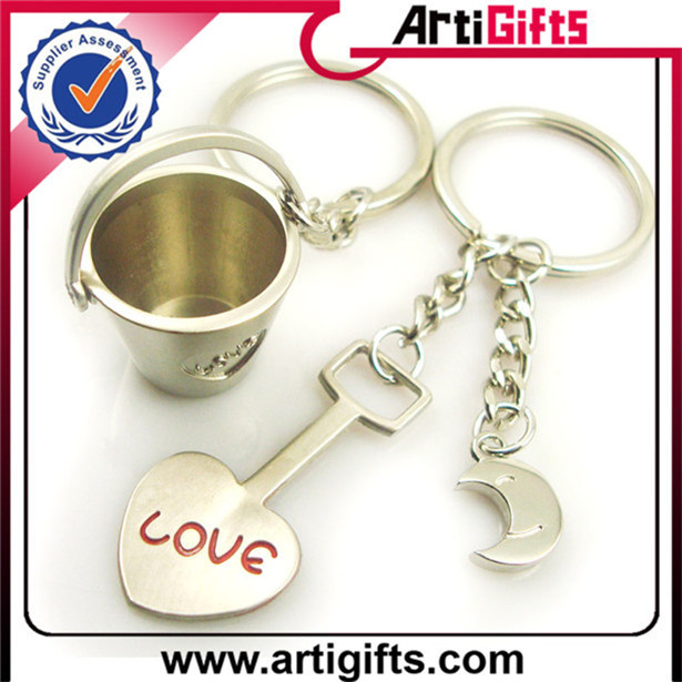 Custom Professional couple sand timer keychain