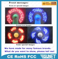 wholesale customized slogan led tiny cooling fan