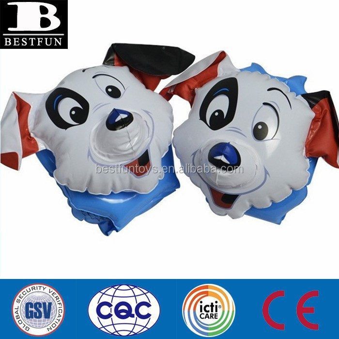 Inflatable Dog Shape Kids Swimming Arm Bands