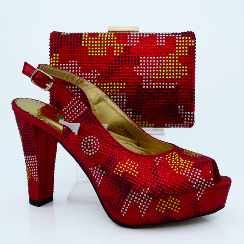High quality matching lady bags and shoes set wholesale african women wedding shoes and handbag