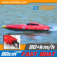 Great looks and compact size Pistol-type 2.4Ghz 2-Channels red water jet boat engine 798-1