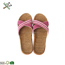 Eco-friendly daily use indoor ladies Pink casual bamboo slippers shoes