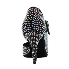 2017 most popular fashion spanish dance shoes with rhinestones for women