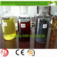 Only 2 workers operation tyre oil to diesel extraction equipment