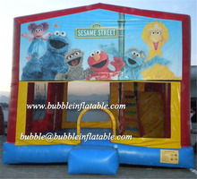 custom inflatable bouncy castles, commercial use inflatable jumper with art panels