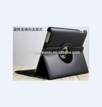 Plain Skin Stand Leather Case Smart Leather Cover for iPad 2/3/4, 360 Rotating Leather Back Cover for New iPad