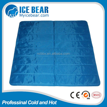 PCM Dark blue cooling pad ice mat for bed