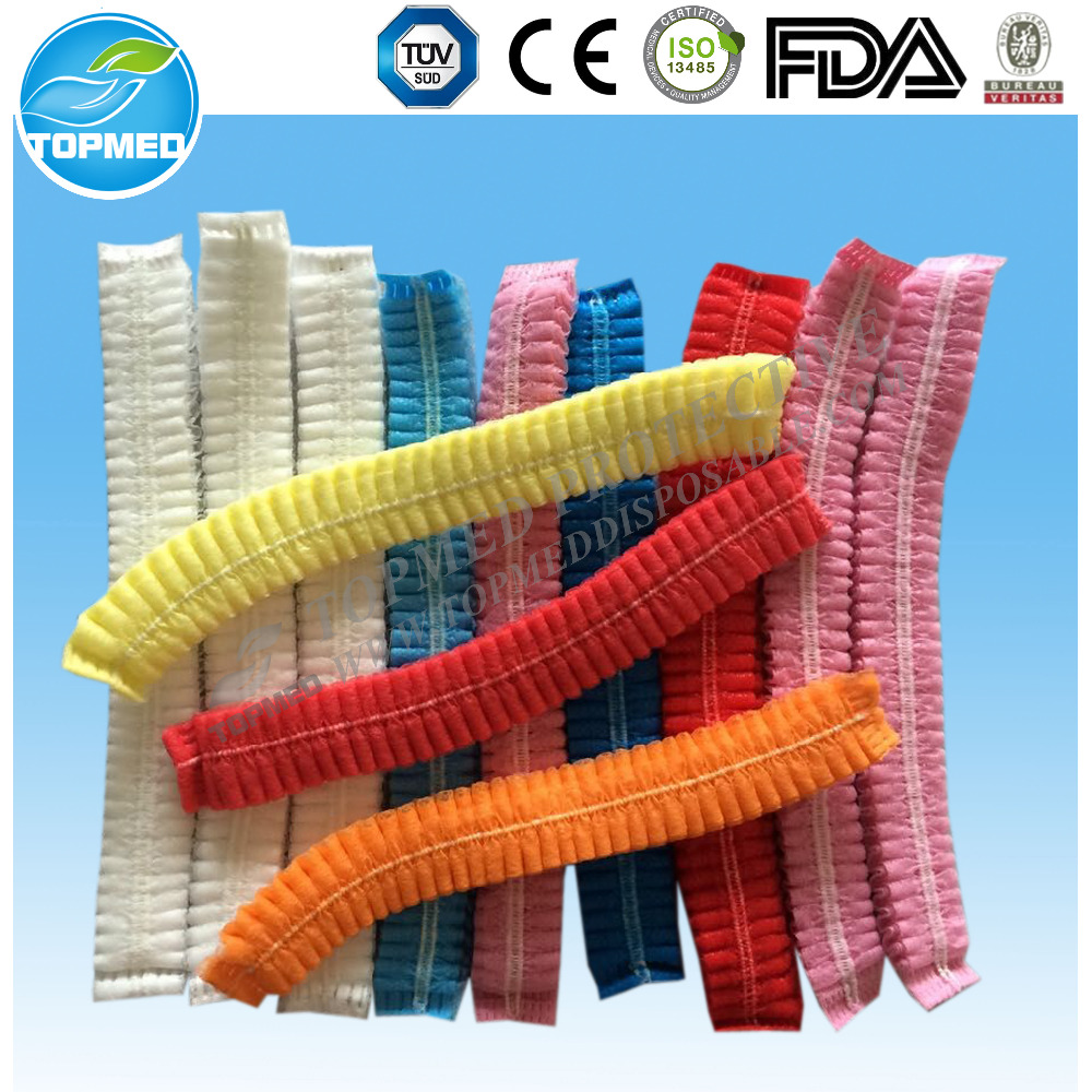 Good protective dust-free nonwoven disposable clip cap for food processing