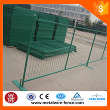 Best price 6x10ft Canada green color coated temporary fence/portable metal fence