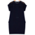 New fashion round neck cotton jersey women casual dress design black midi dress