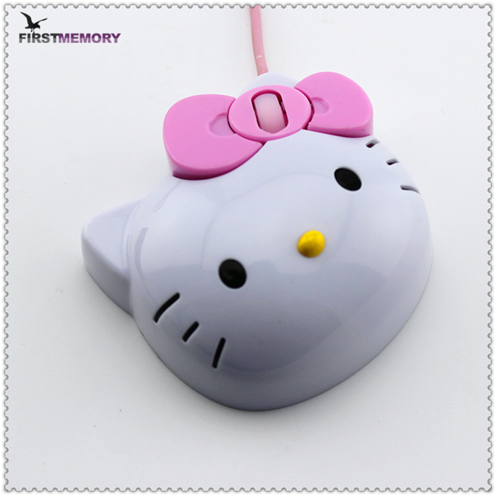 Hello Kitty shape gaming mouse interface type car mouse laptop mouse