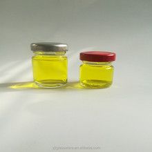 wholesale cheap price 25ml and 35ml mini glass jar with metal screw top lid