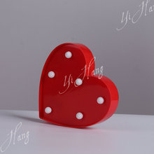 Large Capacity christmas decorations led light of red heart shaped led lights
