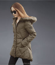 Monroo Fashion Korean Hot Women Slim Wool Cashmere Winter Long Hooded Jacket Coat