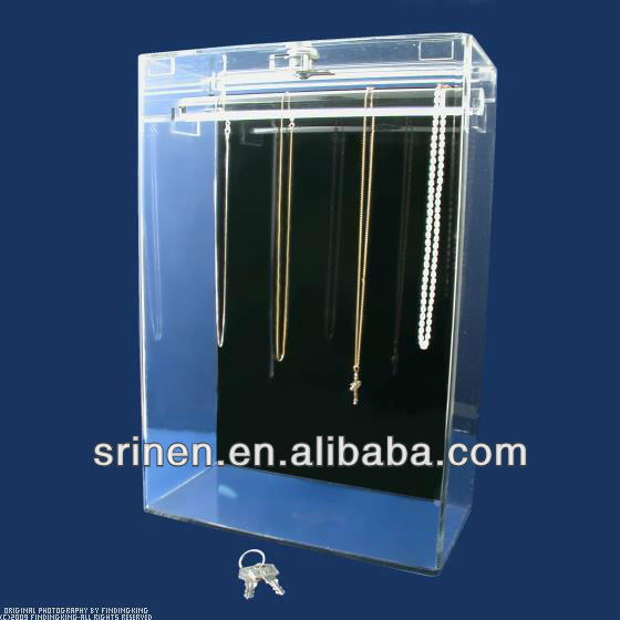 acrylic jewelry display case with lock