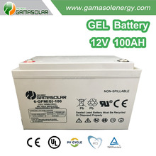 Gama Solar super quality deep cycle GEL charger 12v 80ah 100ah Gel battery plate