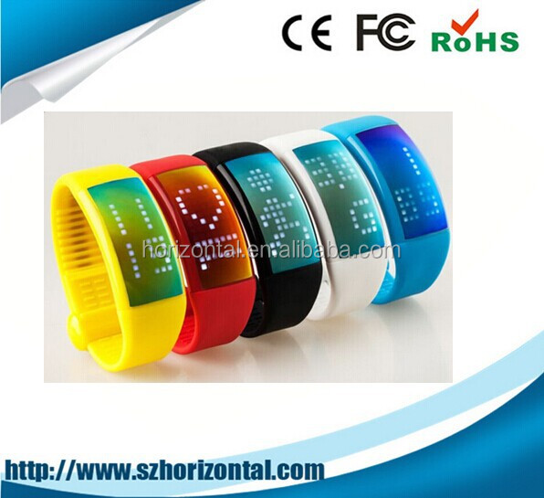 LED Watch USB Flash Drive multifunctional silicon bracelet wristband LED watch USB 2.0 factory price