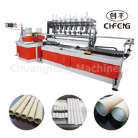 CFJG-20 NC Multi-cutters Spiral Cardboard Paper Tube Core Winding Making Production Machine