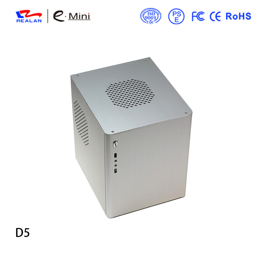 popular itx cube computer case D5 small pc case
