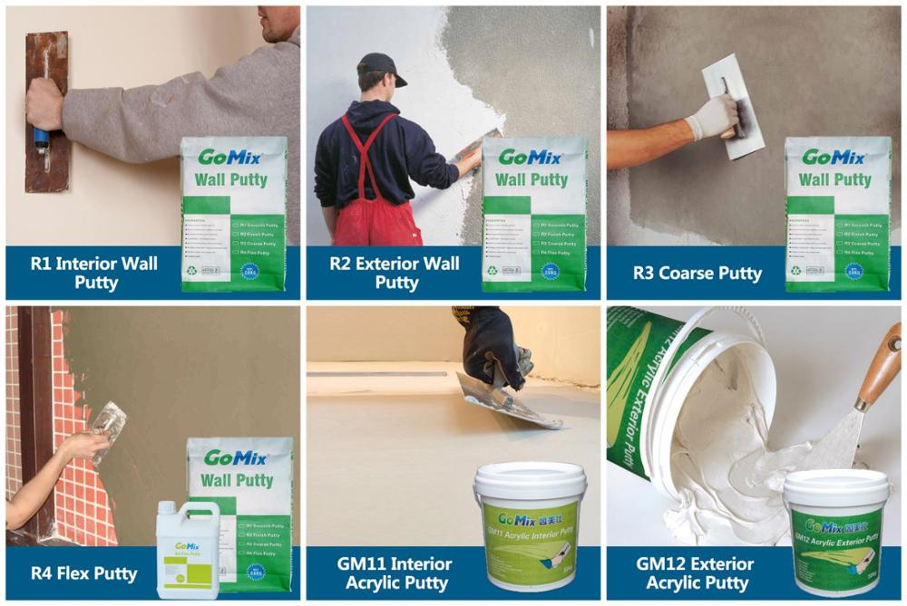 Premium Performance Skim Coat Mortar R1 White Cement Putty