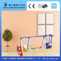 Children Two Seat Swing and Wicker Hanging Swing Chair in Living Room