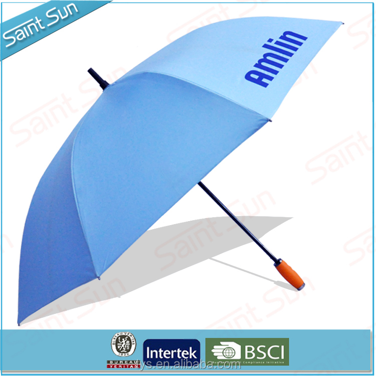 "60""arc Auto open custom strongest golf umbrella with gel handle"