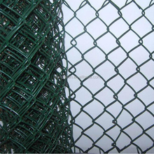 hot dipped galvanize knitted temporary chain link fence/14 gauge pvc coated link fence price/diamond fence