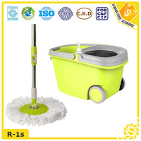 2016 household cleaning stainless steel basket bucket mop as seen on tv