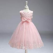 Fashion Casual Frocks Design Small Girls Lace Dress LL314